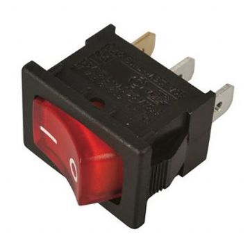 Red Illuminated 12V On/Off Rocker Switch 13mm x 19mm (N84JZ) AB-RS-008